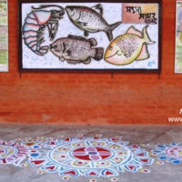 Art-works by students of BAU-FF on National Fishery Week 2012
