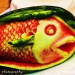 ফল ও সবজি কার্ভিং (carving) করা মাছ ও অন্যান্য