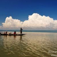 Fisher boat in Matian haor, Sunamganj