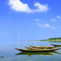 Nice sky and Boat at Halti Beel